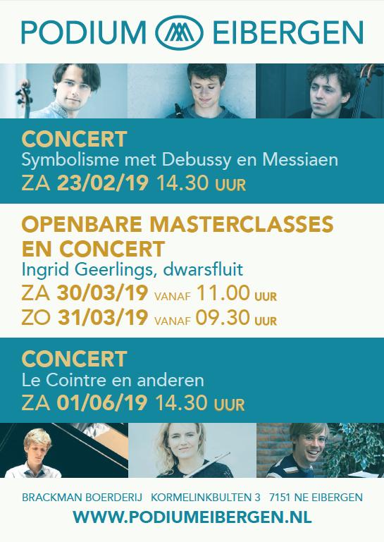 Flyer Podium Eibergen februari-juni, copyright Podium Eibergen