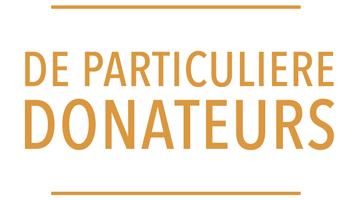 De particuliere donateurs